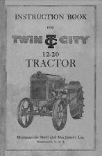 TWIN CITY Model 12-20 Tractor Instructions Operators & Maintenance Manual Moline