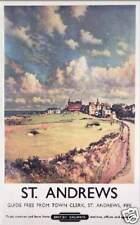 St Andrews Golf British Railways travel  poster print SKU3650