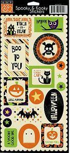 """Spooky & Kooky"" Stickers by Bazzill Basics Paper"