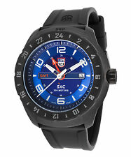 Luminox 5023 Men's Space GMT Blue Dial Black Silicone Band