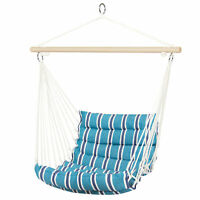 BCP Deluxe Padded Cotton Hammock Hanging Chair Indoor Outdoor Use
