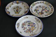 3 assiettes décoratives signées ST Saint CLEMENT diamètre 24cm