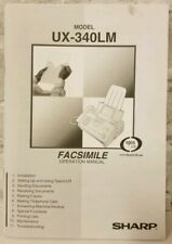 Sharp Corporation Facsimile Model Ux-340Lm Operation Users Owners Manual Fax
