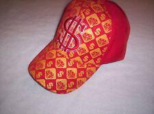 Baseball cap DOLLAR Symbol & Diamond Shapes RED/GOLD Adjustable strap