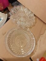 2x Small cut glass crystal plates 8 & 9 inches x175d