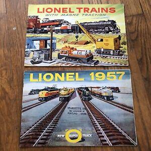 Vintage original 1956 & 1957 Lionel trains catalog