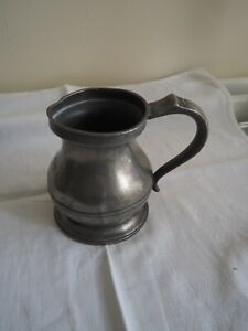 Victorian Pewter 1 pint tankard
