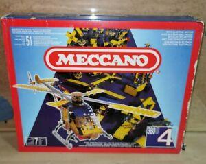 Coffret MECCANO 4 - 51 modèles - 380 pièces métal - réf. 030304 - 1991 NEUF