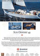 SUN ODYSSEY 43 Yacht ADVERT - 2003 Advertisement by Jeanneau