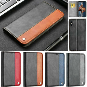 Splice Wallet Leather Flip Case Cover For iPhone 13 12 Pro 11 XR XS Max 7 8 Plus
