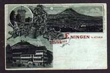 101018 AK Litho Eningen unter Achalm 1901 Hotel Traube und Post Wein Weinkrug