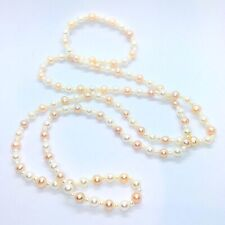 Gems Tv Long String Of Pearls Necklace - With Certificate Of Authenticity