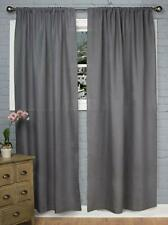 Rizzy Home Linen Window Panel, 50 by 84-Inch, Charcoal/Charcoal