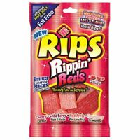 Rips Bite Size Rippin Reds Licorice Candy Pieces (4 Ounce, 12 Per Case)