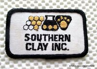 "Southern Clay Embroidered Sew On Patch Advertising Company Uniform 3 1/2"" x 2"""