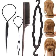 4pcs Women Hair Twist Styling Tools Donut Stick Bun Maker Braid Clip