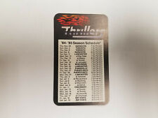 Tampa Bay Thrillers 1984/85 CBA Basketball Pocket Schedule Card