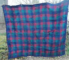 BIEDERLACK usa BLUE GREEN RED c PLAID SLEEPING BAG stadium LAP BLANKET