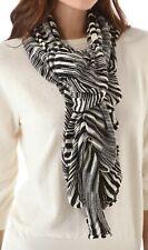 Missoni Black & White knitted Ruffle Scarf