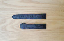 Bracelet montre Cartier cuir alligator noir 17 mn Watch strap band black