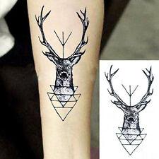 Fad wasserdicht temporäre Tattoo Aufkleber Elch Hirsch Kopf Tattoo Bucks Fake XW