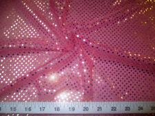 Tejido púrpura 3mm con Lentejuelas Brillante Bling material 2W Stretch Metro de 130cm de ancho
