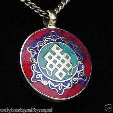 Amulett Buddhismus Anhänger Schmuck Buddha Indien Gedanken Knoten Talisman a71