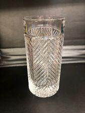 RALPH LAUREN Herringbone Highball Crystal Drinking Glass