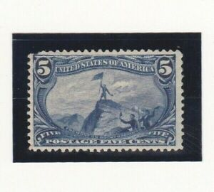 USA Stamps Scott # 288  / 1898 Fremont on the Rocky Mountains 5 Cent Mint H