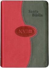 NVI Larger Print Bible - DuoTone Grey/Brick : NVI Biblia Compacta de Letra...