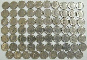 1965~2000 PD Roosevelt Dime Run 69 Coin Run Set US Mint Lot