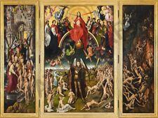 "Peinture triptyque memling le jugement dernier 12x16 ""poster art print HP3485"