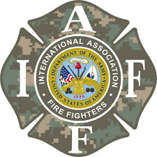 """4"""" IAFF Decal Armed Forces Army Exterior Mount PLEASE READ AUCTION"""