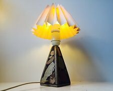 Rare hand painted Italian Modernist Marble Table Lamp 1960s mid century design
