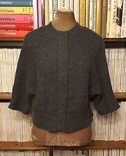EDINA RONAY 100% cashmere grey cardigan jumper sweater UK 14 US 10