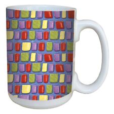 Tree-Free Greetings 15-oz Mosaic Style Ceramic Coffee Mug