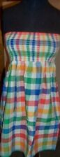 Sun Dress ASOS Check Shirred Boob Tube Cotton size 10 New
