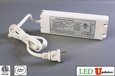 ETL Listed 12v 50w 4.16A LED Light Triac Dimmable Driver AC Power supply + Plug