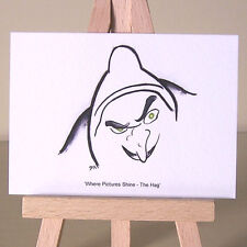 BIANCANEVE STREGA ART DECO WDCC Disegno Strega Malvagia cattivo ACEO Arte Carta