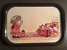 vintage metal serving tray. Sarah Kay,  mid century