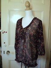 esprit blue paisley tunic top as bought