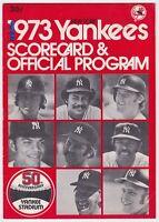 1973 NY YANKEES VS BALTIMORE ORIOLES OFFICIAL PROGRAM SCORECARD BOBBY MURCER HR