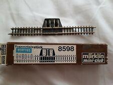 8505 coupe droite voie pièce 220 mm Märklin Mini-Club Piste Z top