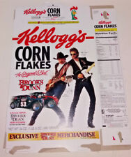 Vintage 1996 Kellogg's Corn Flakes Flat Empty Box ft Brooks and Dunn Merch Offer