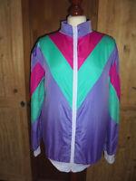 vintage 80s Sportjacke sport jacket new wave neon für festival 80er oldschool M