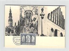 Vatikanstadt MK 1966 Pologne Varsovie Cathédrale monastère CARTE MAXIMUM CARD MC cm d9400