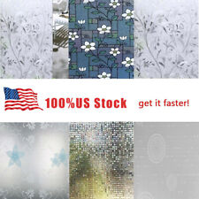 Waterproof Privacy Self Adhesive Bathroom Window Stickers Static Glass Film hot