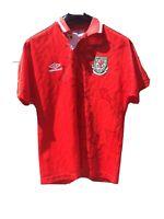 wales football shirt Umbro Rare Dragon Vintage Read Description