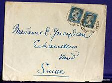Frankreich Pasteur 0,75 En yt 177 auf Brief Schweiz- 1926 FA79