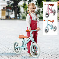"12"" Kids Balance Bike Training Bicycle Adjustable Seat EVA Tire 2 Years Up"